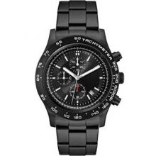 Unisex Watch Men's Chronograph Watch Brushed Silver 44mm