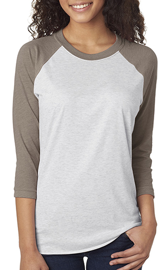 Next Level Unisex Triblend 3/4 Sleeve Raglan