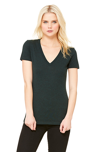 Bella  Canvas Ladies' Triblend Short-Sleeve Deep V-Neck T-Shirt