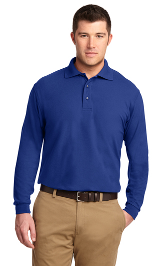 Port Authority Long Sleeve Silk Touch Polo