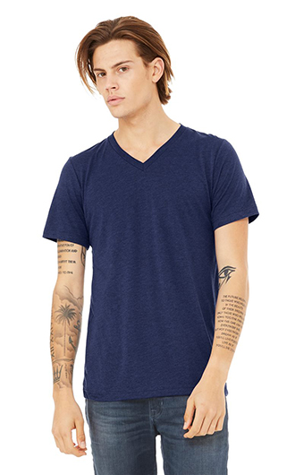 Bella  Canvas Unisex Triblend Short-Sleeve Deep V-Neck T-Shirt