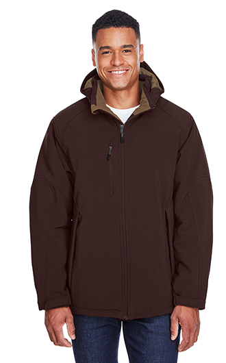 Glacier Men's Insulated Soft Shell Jackets with Detachable Hood