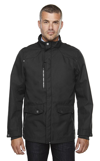 Uptown Men's 3-Layer Lights Bonded City Textured Soft Shell Jack