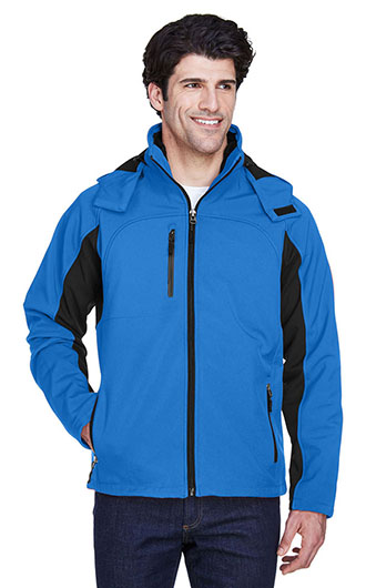 UltraClub Adult Colorblock 3-in-1 Systems Hooded Soft Shell Jack