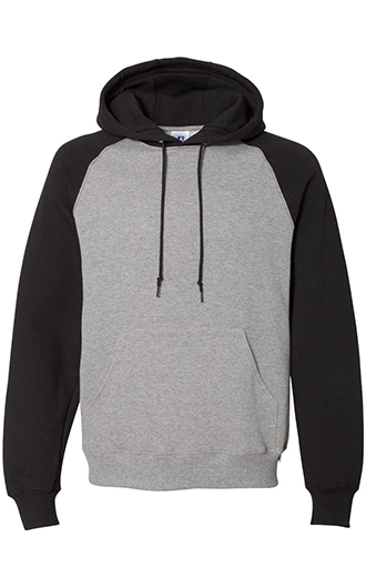 Russell Athletic - Dri Power Colorblock Raglan Hooded Sweatshirt
