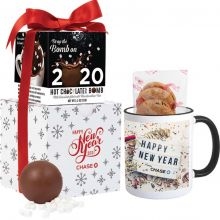 Mrs. Fields Mug & Cookies with Hot Chocolate Bomb Gift Set