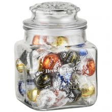 36 oz Glass Apothecary Jar (Lindt Truffles)