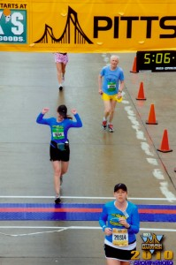 Running the Pittsburgh Marathon - Finish Line