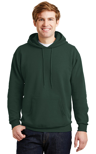 Man wearing a sweatshirt that could be made into custom business clothes