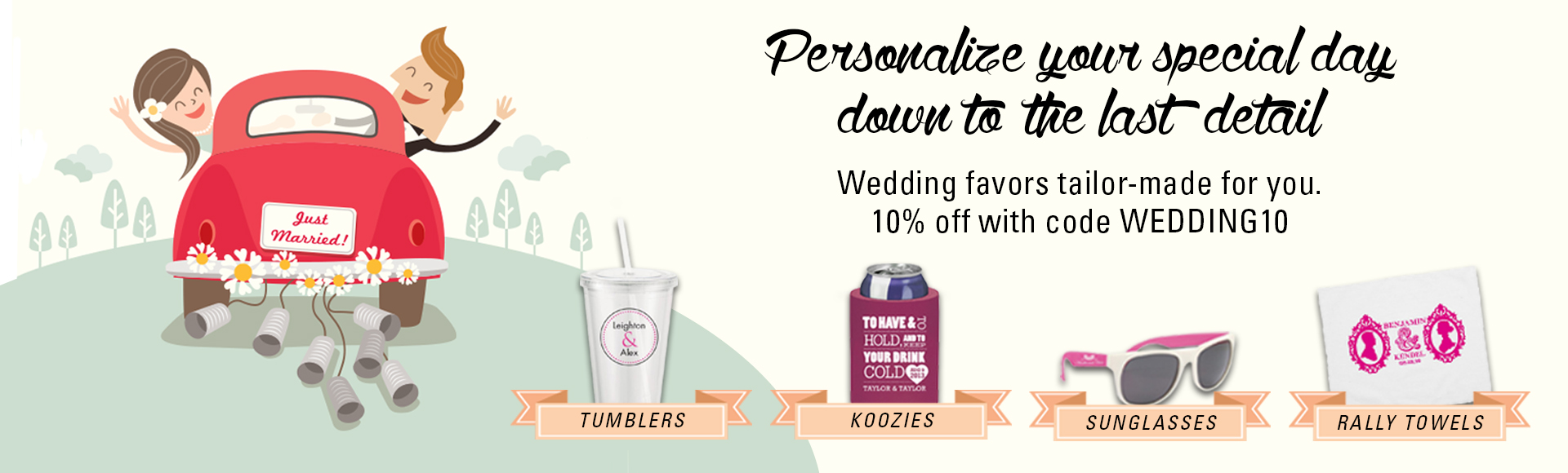 Post wedding promotional gifts